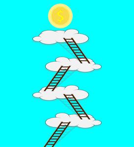 273x300 Boy Climbing Up Ladder Illustration Royalty Free Stock Image