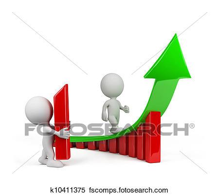 450x402 Clip Art Of 3d Man Climbing Mountain K12282422