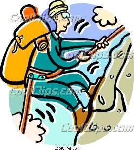 275x308 Man Climbing A Mountain Clipart