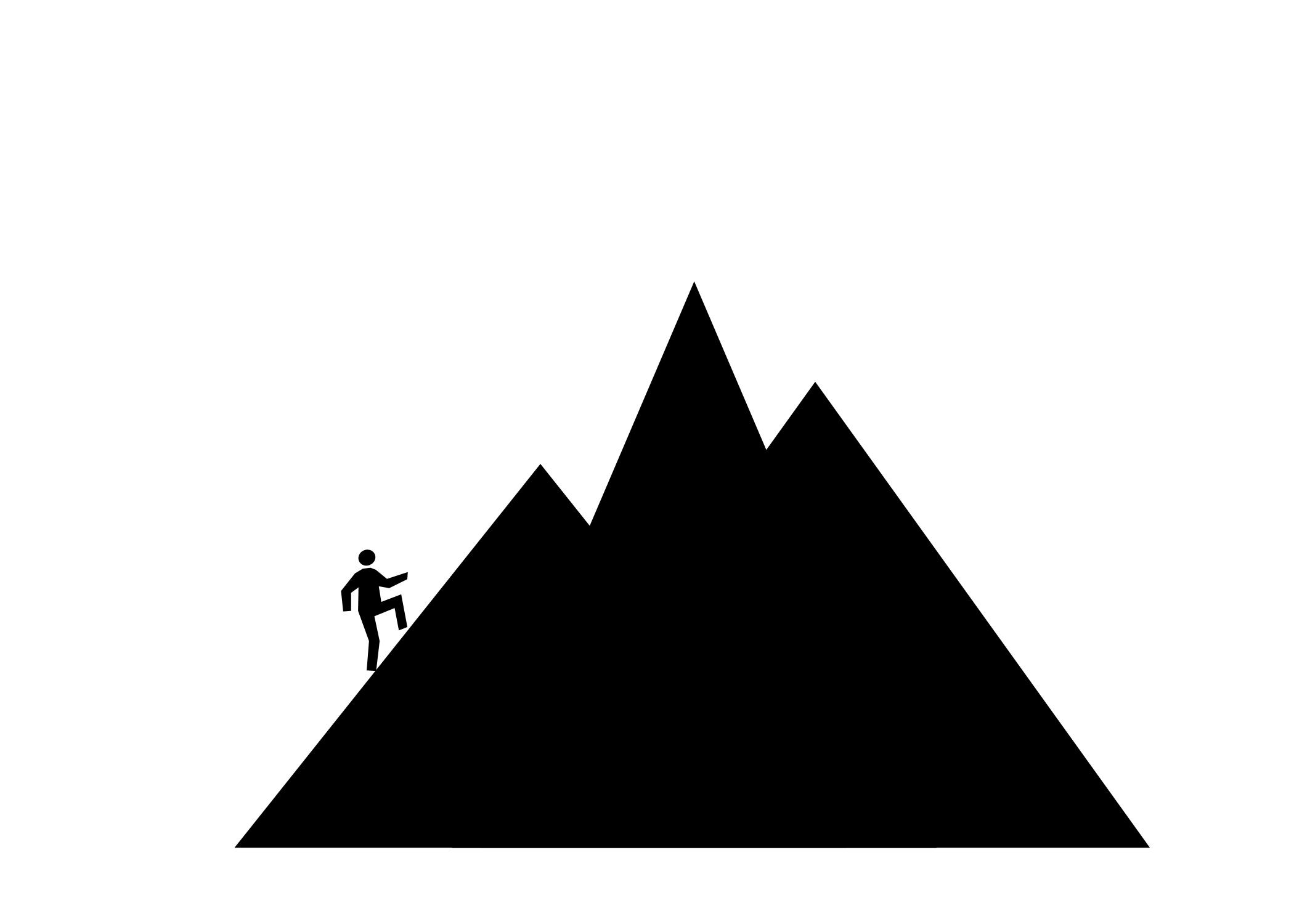 2100x1500 Mountain Climbing Silhouette Clipart Free