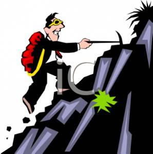 298x300 Business Man Climbing A Mountain