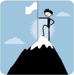 297x300 Climbing Clipart Top Mountain