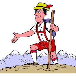 300x300 Mountain Climber Clipart