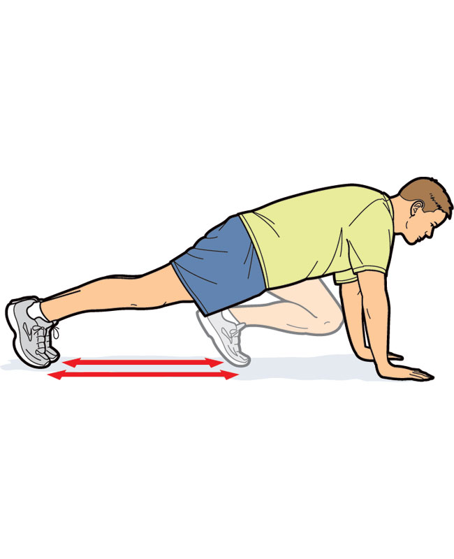 650x800 Mountain Climbers Exercise Clipart