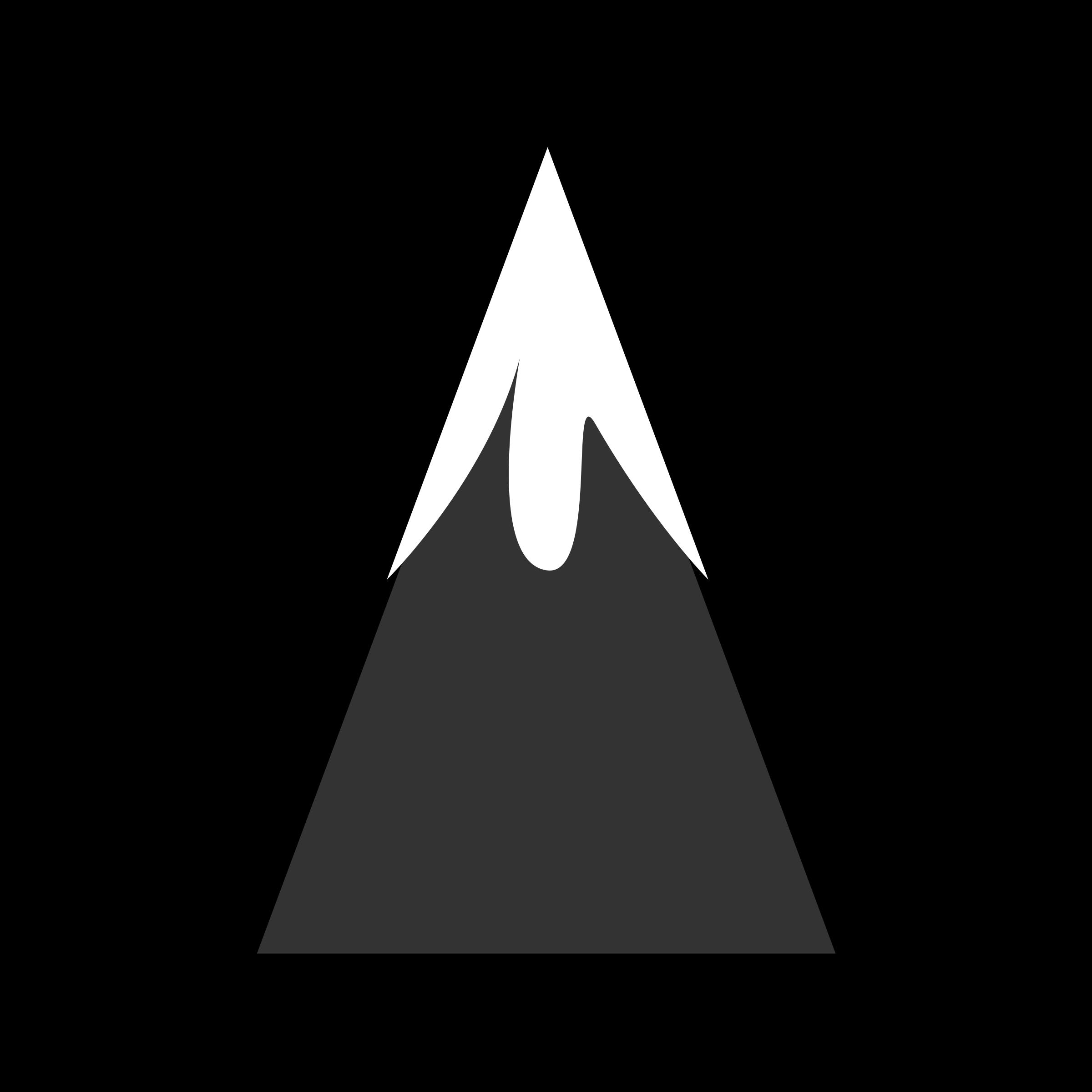 2400x2400 Mountain Clipart