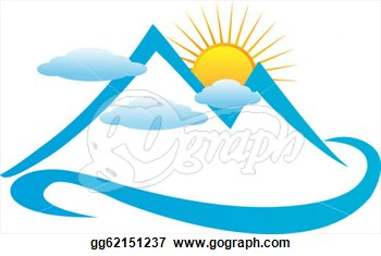 350x235 Mountain Range Silhouette Clip Art