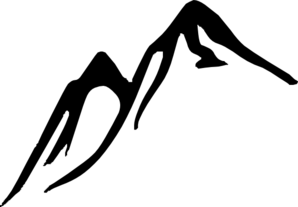 298x207 Mountain Silhouette Clip Art