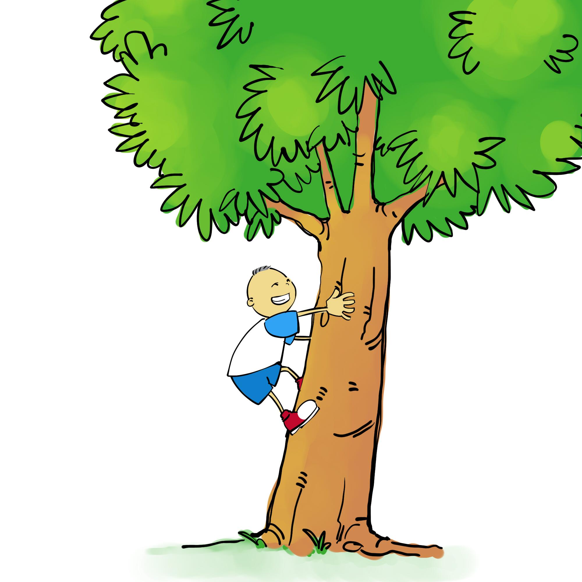 2000x2000 Boy Clipart Climbing Tree