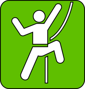 285x299 Rock Climbing Symbol Green Clip Art