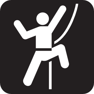 300x300 Technical Rock Climbing Black Clip Art