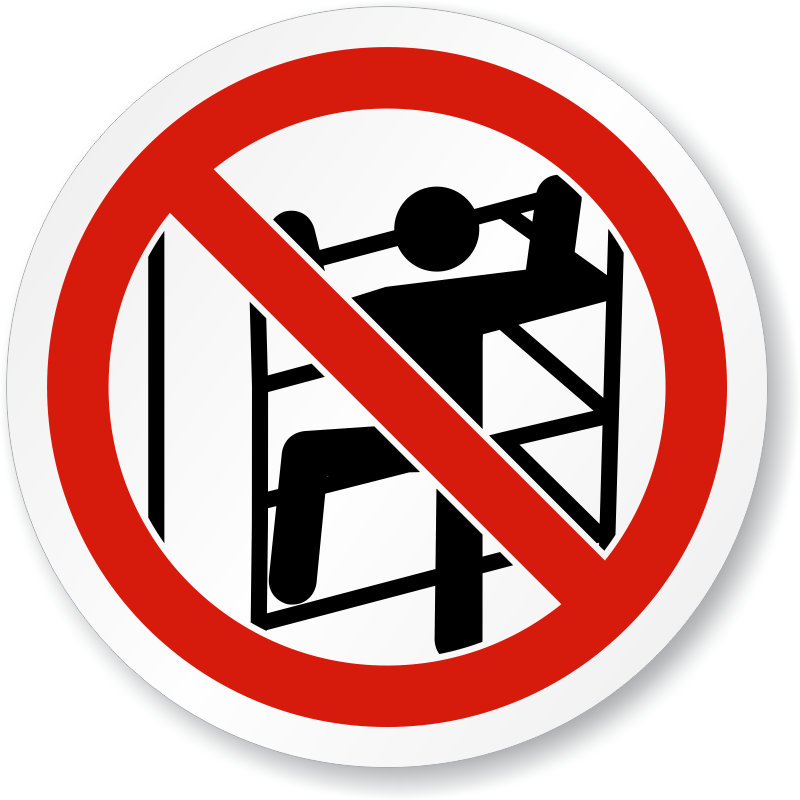 800x800 No Climbing Sign Clip Art