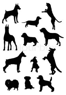 223x320 Dogs Collection Silhouettes