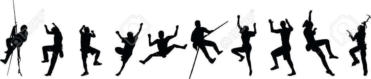 1300x279 Free Climbing Silhouettes Royalty Free Cliparts, Vectors,