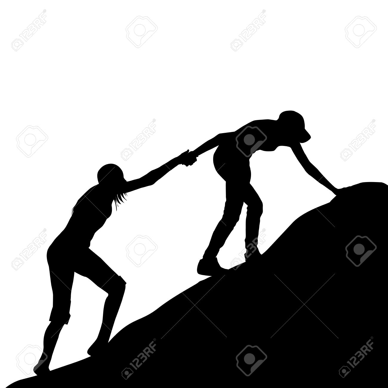 1300x1300 Free Clipart Images Silhouette Helping Someone Up
