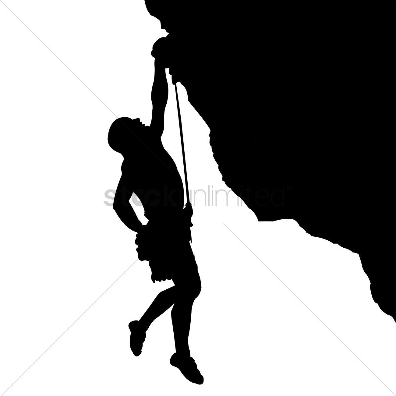 1300x1300 Man Climbing A Mountain Vector Image