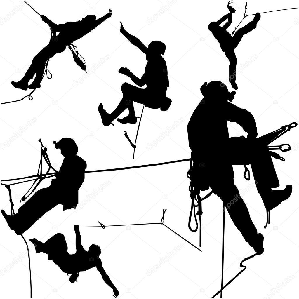 1024x1024 Rock Climbers Silhouette Collection