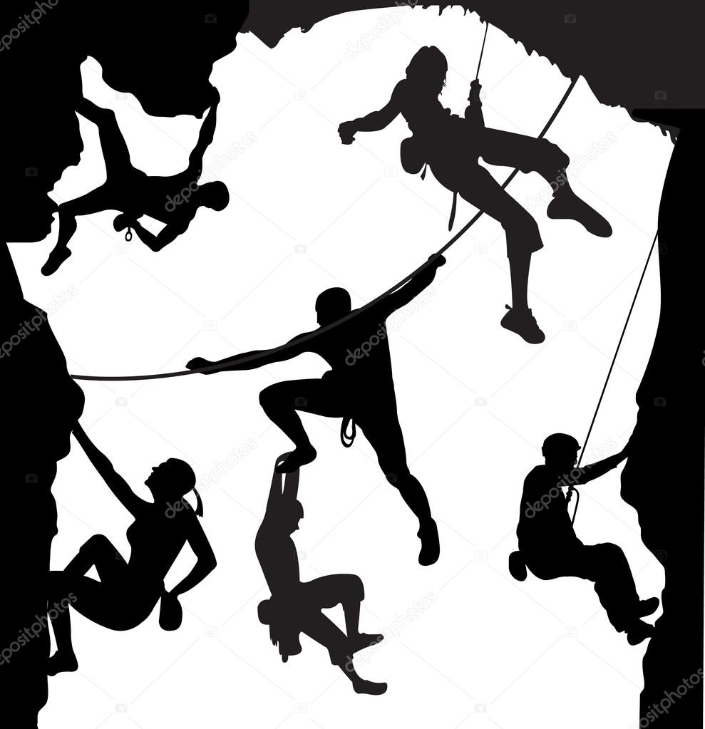 989x1023 Rock Climbing Stock Vectors, Royalty Free Rock Climbing