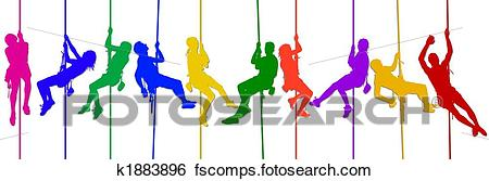 450x167 Stock Illustration Of Isolated Climbing Silhouettes K1883896