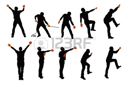 450x300 Trekking Male Silhouette Royalty Free Cliparts, Vectors, And Stock