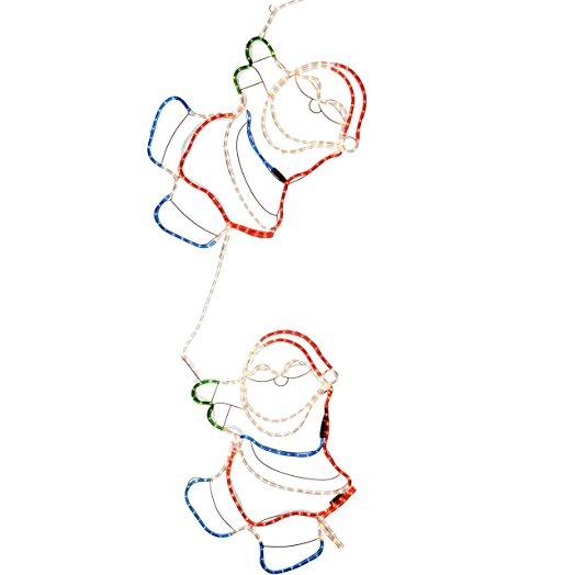 524x524 Werchristmas 180 Cm Large Animated Climbing Santa Rope Light