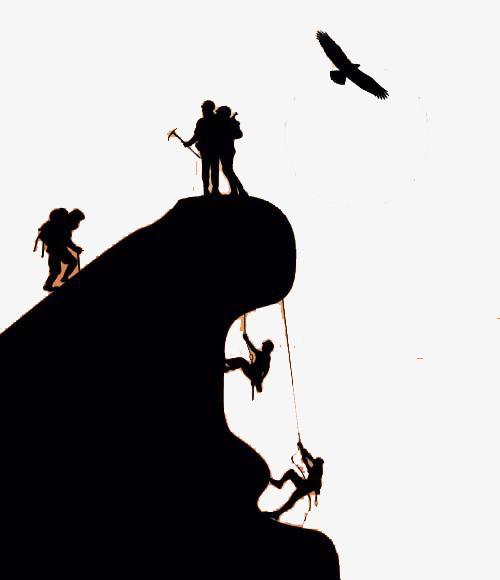 500x580 Simple Rock Climbing Silhouette Illustration, Simple, Rock