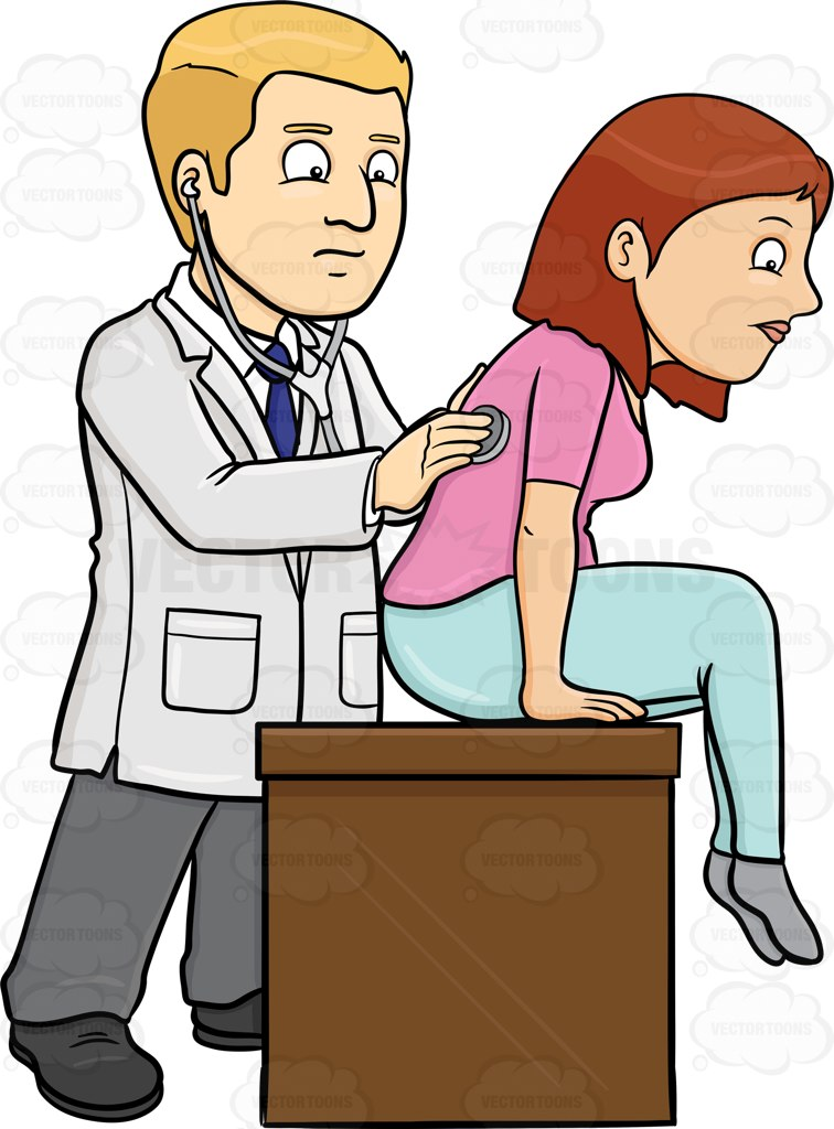 756x1024 A Doctor Using A Stethoscope On His Female Patient To Check