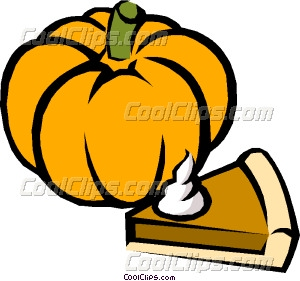 300x281 Pumpkin Pie Vector Clip Art