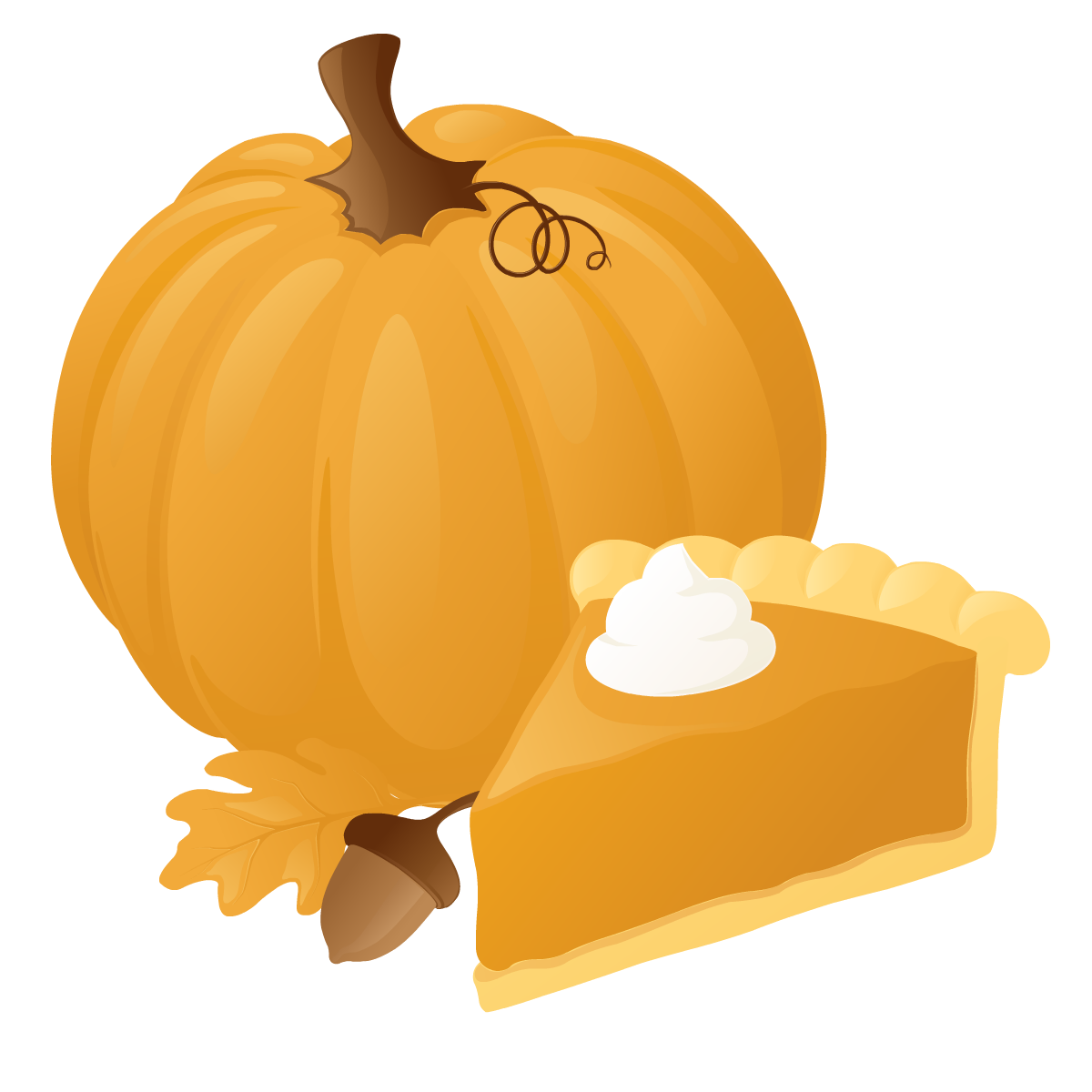 1200x1200 Pumpkin Pie Clipart 3
