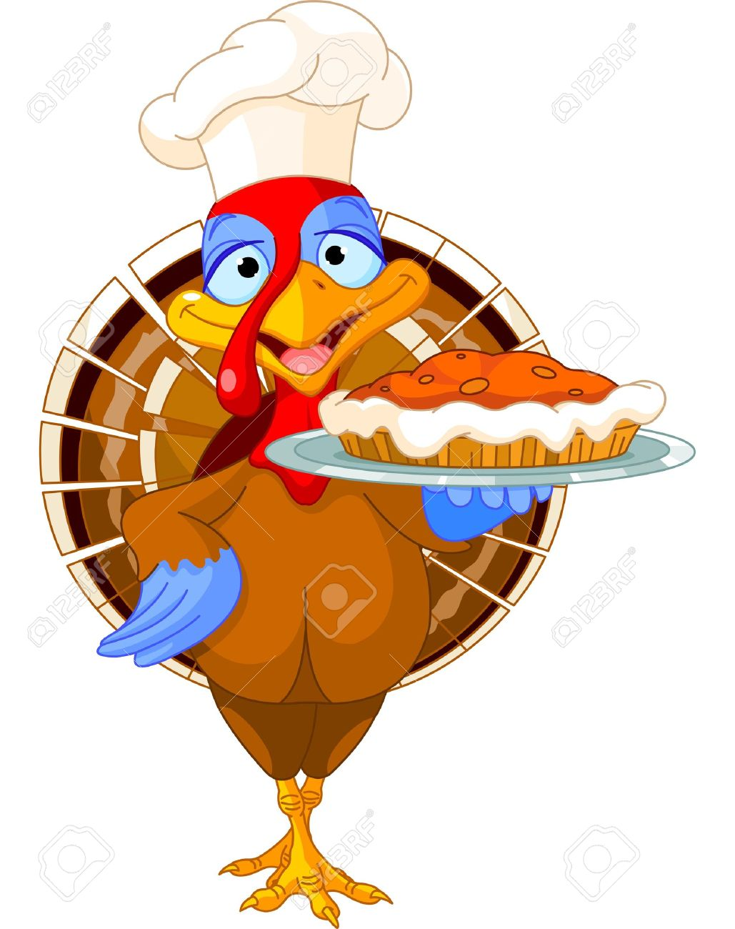 1029x1300 Thanksgiving Turkey Serving Pumpkin Pie Royalty Free Cliparts