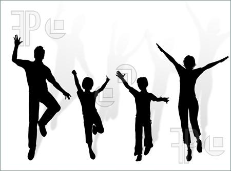 450x334 Family Dance Clipart
