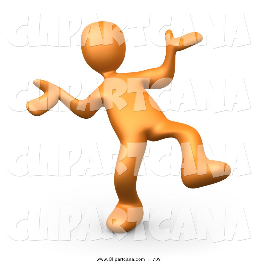 1024x1044 Clip Art Of A Happy Orange Man Doing A Dance By 3pod