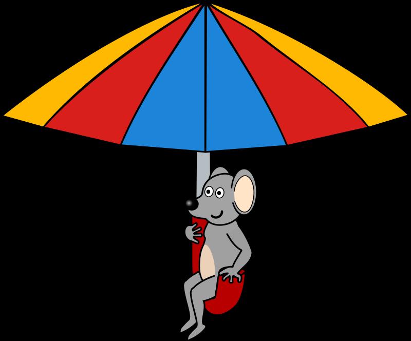 800x664 Free Mouse Riding An Umbrella Clip Art