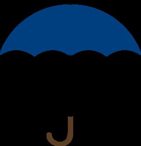 291x300 Navy Blue Umbrella Clip Art