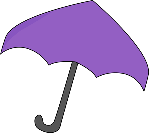 500x445 Purple Umbrella Clip Art