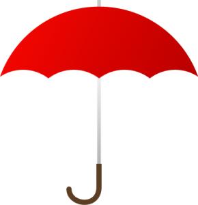 290x300 Umbrella Clipart Red Umbrella