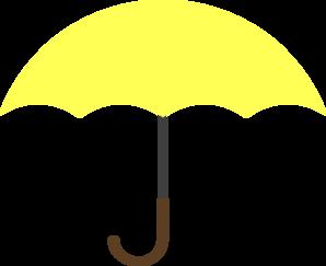 298x243 Yellow Umbrella Clip Art