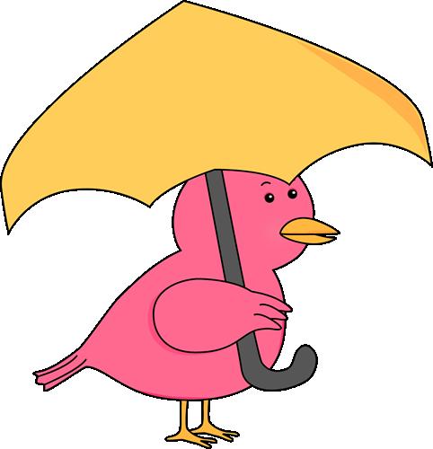 482x500 Bird Holding Umbrella Clip Art