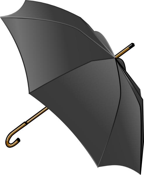 494x600 Black Umbrella Clip Art Free Vector In Open Office Drawing Svg
