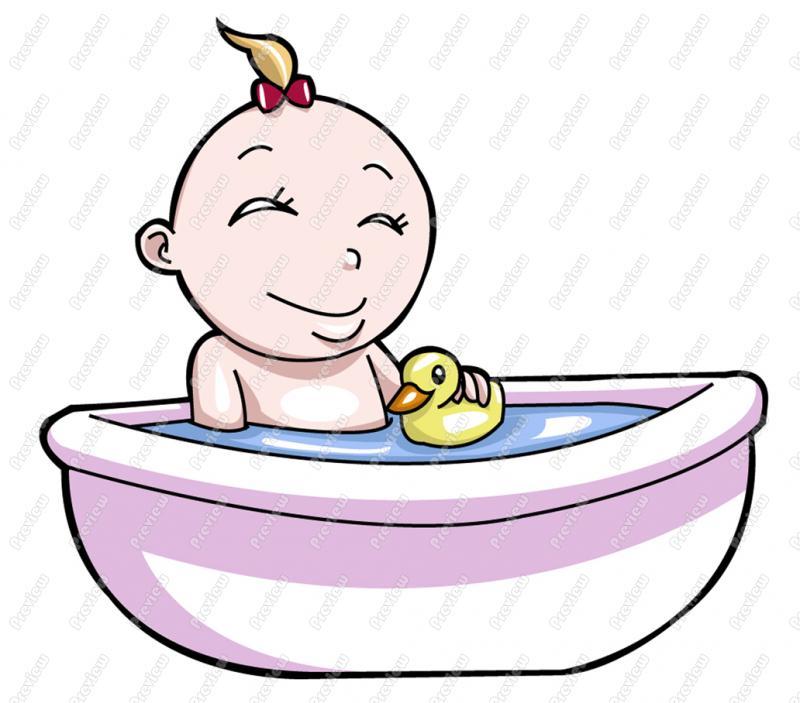 800x703 Clip Art Girl Bath Clipart