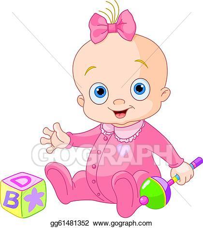 420x470 Baby Girl Clip Art