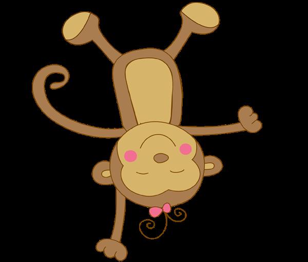 600x512 Girl Clipart Baby Monkey