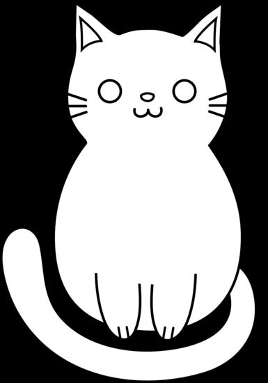 385x550 Cat Black And White Kitty Cat Clip Art