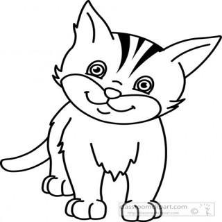 320x320 Cat Clip Art Black And White Clipart