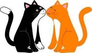 300x172 Cute Cat Clipart Amp Cute Cat Clip Art Images Clipartallcom, 2 Cats