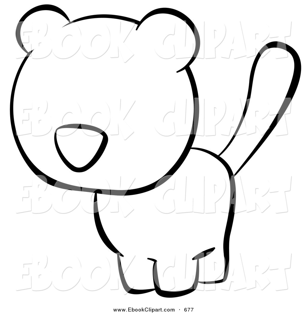 1024x1044 Vector Clip Art Of A Black And White Human Factor Cat Looking Left