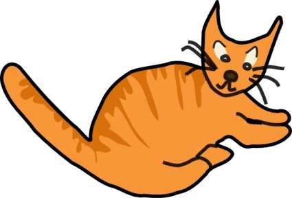 425x288 Brown Cat Clip Art Cliparts