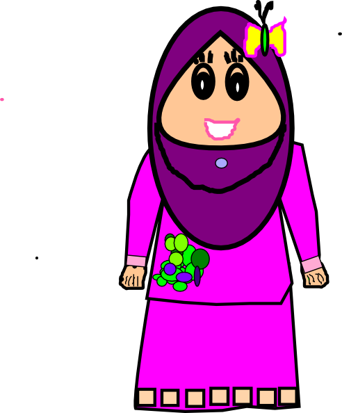492x594 Muslimah Cute Craft Clip Art