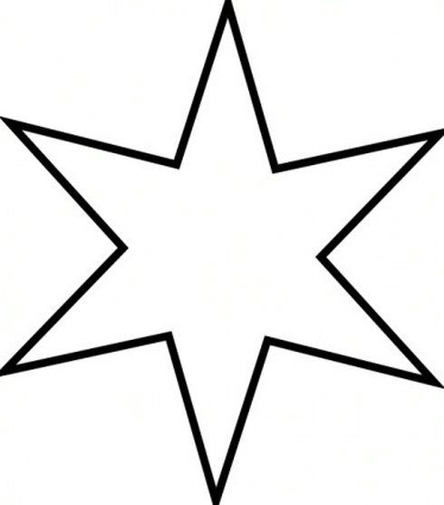490x557 Star Black And White Clipart
