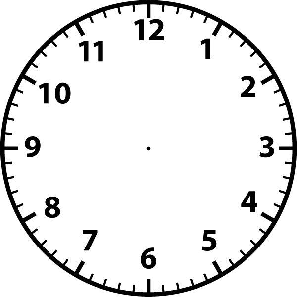 600x600 Clock Clipart Blank