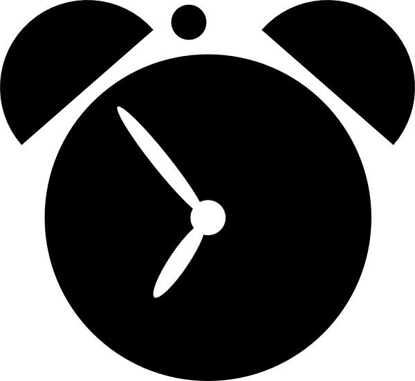 600x551 Alarm Clock Clip Art Free Vector In Open Office Drawing Svg